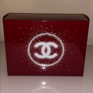 Chanel red cosmetic box